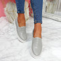 Nomme Grey Croc Trainers