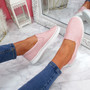 Nomme Pink Croc Trainers