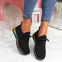 Eva Black Rainbow Trainers