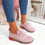 Eva Pink Rainbow Trainers