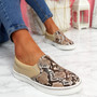 Heddy Camel Snake Skin Trainers