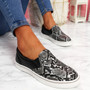 Heddy Black Snake Skin Trainers