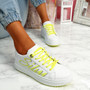 Slimme White Yellow Platform Trainers