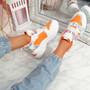 Kaya Orange Chunky Sneakers