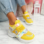 Kaya Yellow Chunky Sneakers