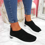 Piba Black Knit Chunky Trainers