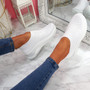 Piba White Knit Chunky Trainers