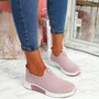 Diffa Pink Knit Trainers