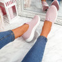 Diffa Pink Knit Trainers