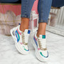 Dinna Blue Rainbow Chunky Trainers