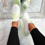 Solly White Green Lace Up Sport Trainers