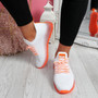 Solly White Orange Lace Up Sport Trainers