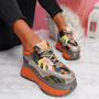 Lora Orange Chunky Platform Trainers