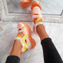 Dopa Orange Chunky Platform Trainers