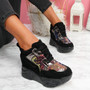 Leny Black Glitter Sparkle Chunky Trainers