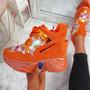Leny Orange Glitter Sparkle Chunky Trainers