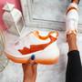 Emya Orange Chunky Trainers