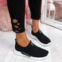 Derra Black Slip On Sneakers