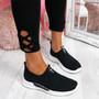 Derra Black Slip On Sneakers