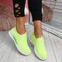 Derra Green Slip On Sneakers