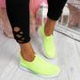 Derra Green Slip On Sneakers