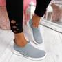 Derra Grey Slip On Sneakers