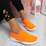 Derra Orange Slip On Sneakers