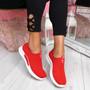 Derra Red Slip On Sneakers