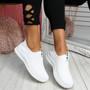 Derra White Slip On Sneakers
