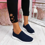 Enny Navy Running Trainers
