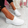 Cinny White Knit Running Trainers