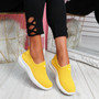Cinny Yellow Knit Running Trainers