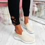 Lonnia Beige Slip On Sneakers
