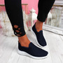 Lonnia Navy Slip On Sneakers
