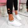 Nurya Bleach White Knit Slip On Trainers