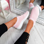 Nurya Pink Knit Slip On Trainers