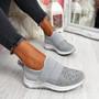 Zenna Grey Studded Trainers