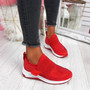 Zenna Red Studded Trainers