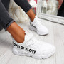 Loppe All White Lace Up Chunky Trainers