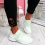 Lammy Green Mesh Sneakers
