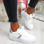 Snawa White Multicolor Lace Up Trainers