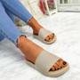 Mannya Beige Slip On Sandals