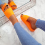 Mannya Fluorescent Orange Slip On Sandals