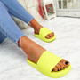 Mannya Fluorescent Yellow Slip On Sandals
