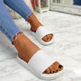 Mannya White Slip On Sandals
