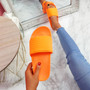 Eka Fluorescent Orange Flat Sandals