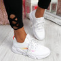 Rovy White Chunky Trainers
