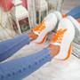 Zya White Orange Chunky Trainers
