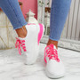 Zya White Rose Chunky Trainers