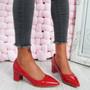 Nya Red Block Heel Pumps